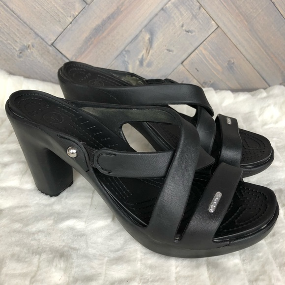 b222c78ee5 CROCS Shoes | Croc Cyprus Iv Heel Black Size 9 | Poshmark